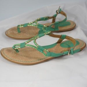 b.o.c. Born Concept  Green Sandals Size 7